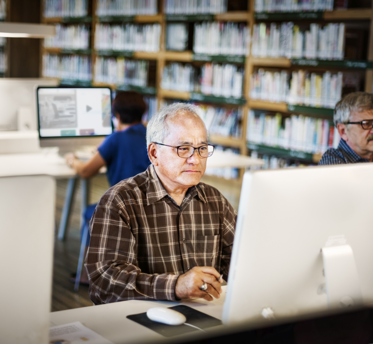 Teacher Preparing Studying School Library Concept